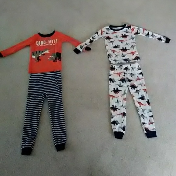 NWT Carter/'s PJs 2T 3T 4T Pajamas Gray Christmas Holiday Snug Fit NEW Carters